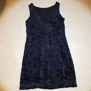 Ann Taylor Black Velvet Dress